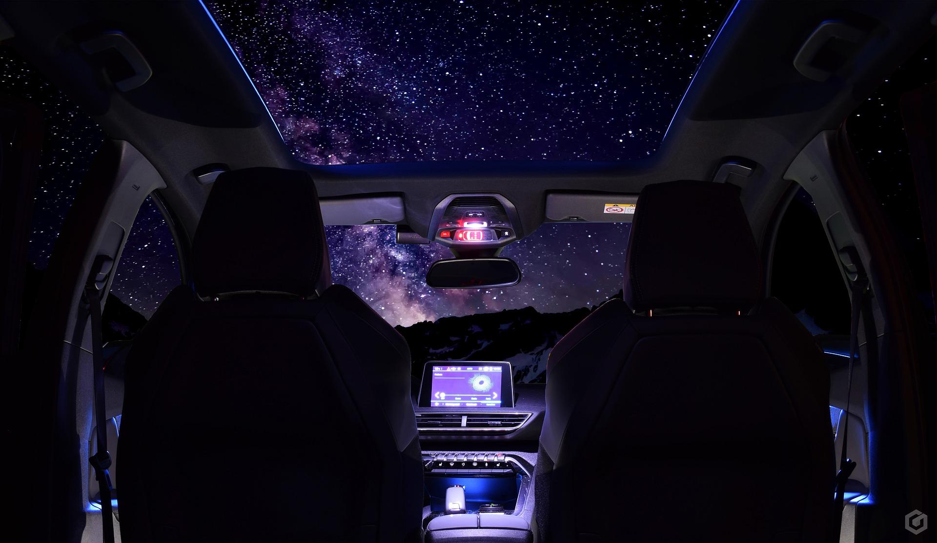 автомобиль звездное небо картинки шторы можно